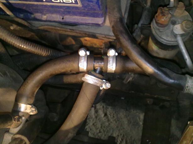 антифризом, заводим двигатель